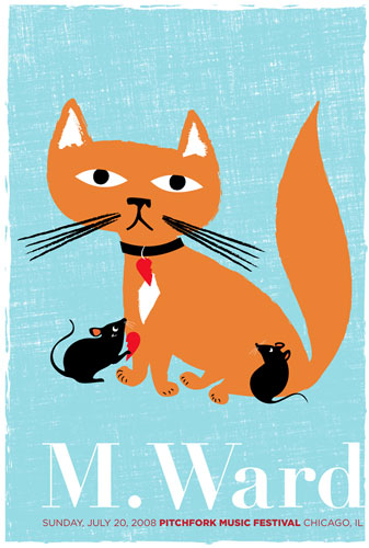 Cats always make posters more cute.