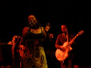 Sharon Jones belts out another one.