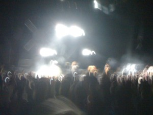 This is your blink 182 concert on drugs. Or this is what it looks like when you take an iPhone picture in the rain.