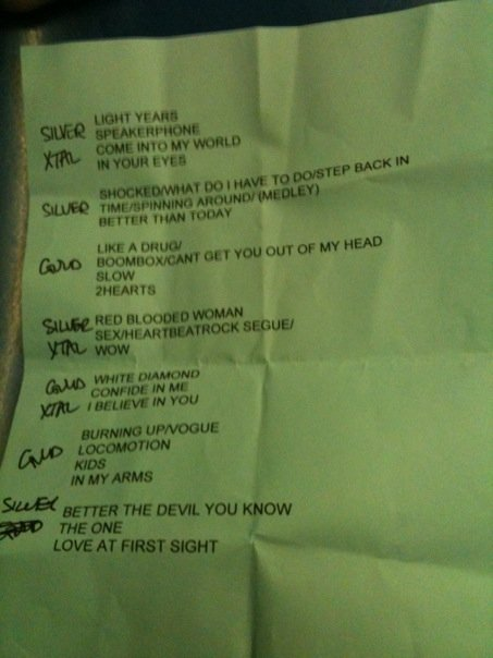 Completely accurate, unlike other setlists floating around online.