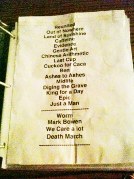 Faith No More's setlist for their third Warfield performance