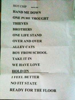 Hot Chip's setlist