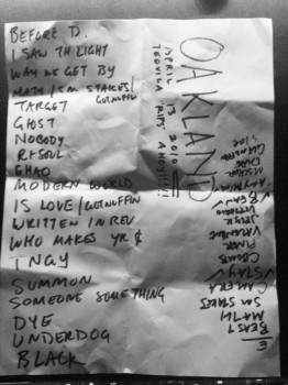 Spoon's setlist (with list of encore possibilities)