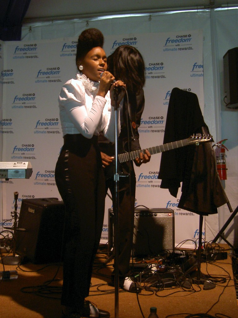 Janelle Monáe's private performance in the Chase Freedom Lounge