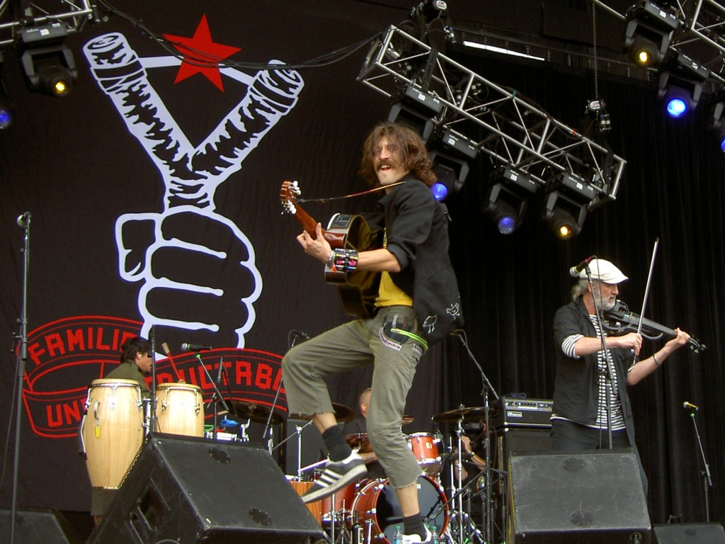 Pedro Erazo, Eugene Hütz and Sergey Ryabtsev of Gogol Bordello