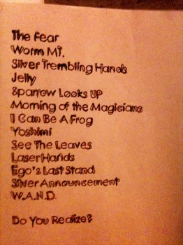 The Flaming Lips' setlist