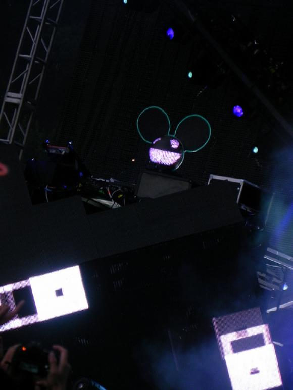 The light-up mask of deadmau5 (photo by Jessica S: http://www.flickr.com/photos/jessicasarahs/6048254923/in/photostream/ )