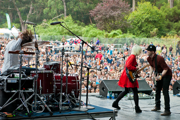 The Joy Formidable plays to a packed Lindley Meadow on the Sutro Stage