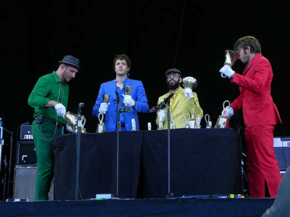 OK Go perform the quietest song of the entire festival... with bells