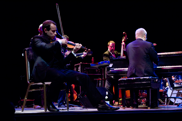 Left to right: Nicholas Crosa, Phil Baker and Thomas Lauderdale of Pink Martini