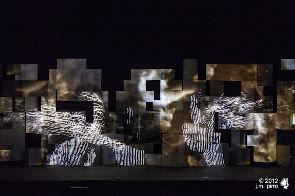 Amon Tobin paints sound with light... or light with sound?