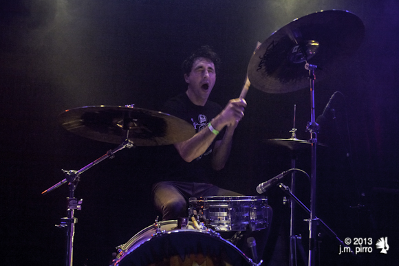 Drummer Westin Glass is so excited to be in the Thermals. This was pretty much his facial expression the whole night