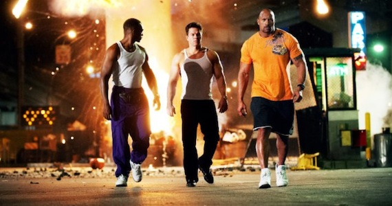 Anthony Mackie, Mark Wahlberg and Duane Johnson in Pain & Gain