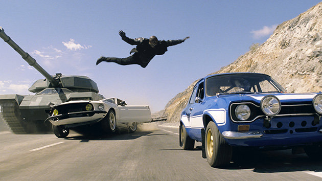 Tyrese Gibson (or likely a stuntman) in Fast & Furious 6