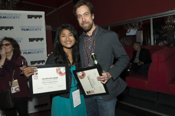 Golden Gate Award winners Kalyanee Mam and Dan Krauss