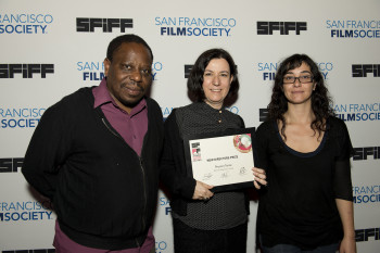 Charles Mudede, Golden Gate Award winner Belmin Solyemez and Alicia Scherson