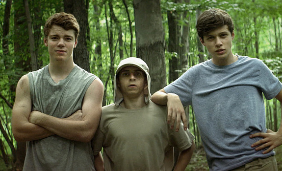 Nick Robinson, Gabriel Basso, and Moises Arias in The Kings of Summer