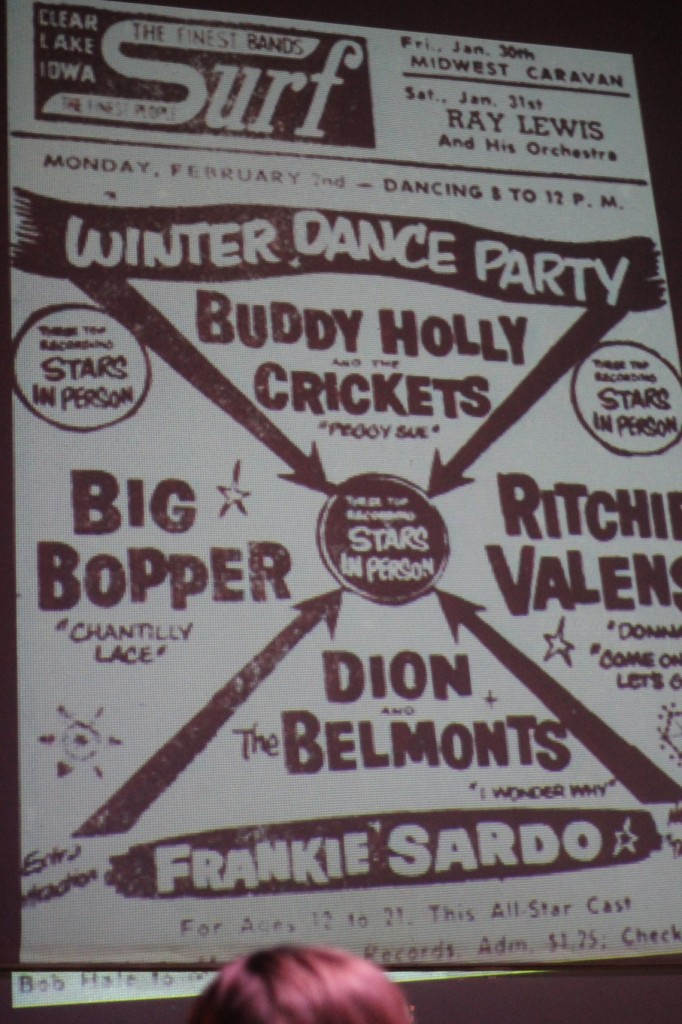The poster from Buddy Holly's final concert