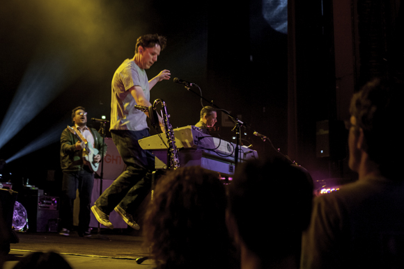 John Linnell catches some air