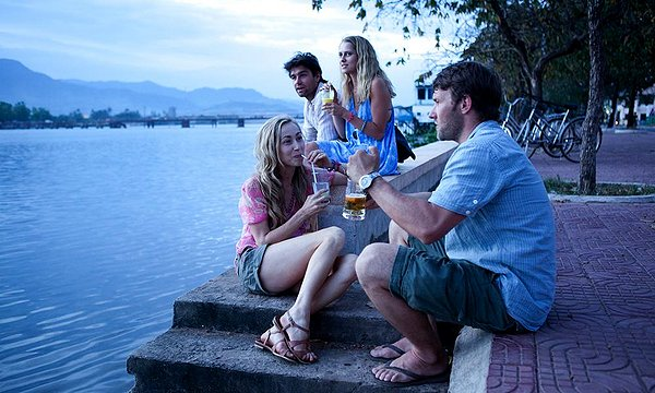 Felicity Price, Joel Edgerton, Teresa Palmer, and Antony Starr in Wish You Were Here