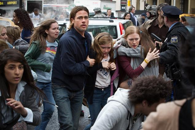 Brad Pitt (and his fictional family) in World War Z