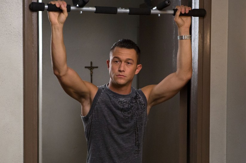 "Joseph Gordon-Levitt in full gym-bod form in ""Don Jon"""