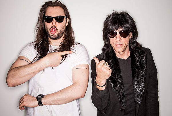 Andrew W.K. with Marky Ramone, playing this Saturday at The Independent