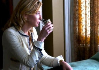 Cate Blanchett calms her nerves in Blue Jasmine.