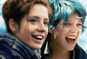 A happy moment in Blue is the Warmest Color.