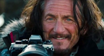 Sean Penn, happy to be behind the camera for a change.
