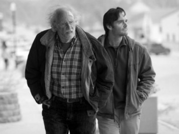 Bruce Dern's Woody and Will Forte's David make their way through Alexander Payne's Nebraska.
