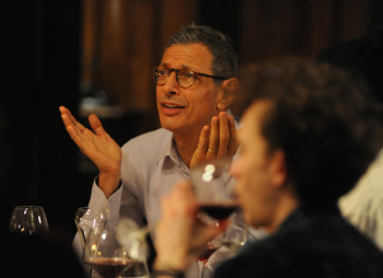 Jeff Goldblum's Morgan holds court at a dinner party.
