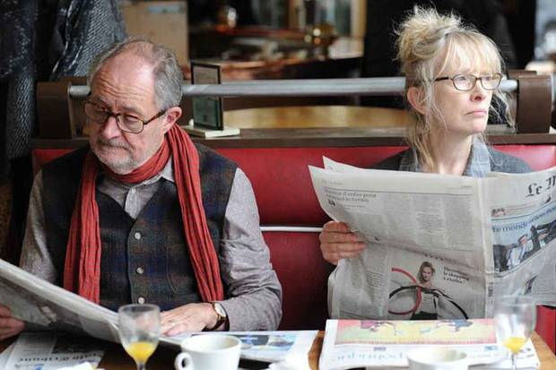 Together, yet apart: Jim Broadbent' as Nick and Lindsay Duncan as Meg in a moody scene from Le Week-End.