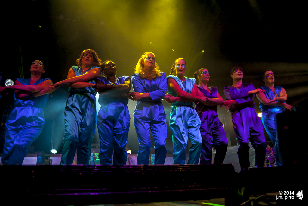 Karin Dreijer Andersson and her dance ensemble