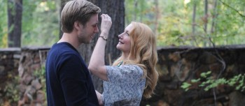 Patricia Clarkson and Zachary Booth as mother and son share a rare tender moment.