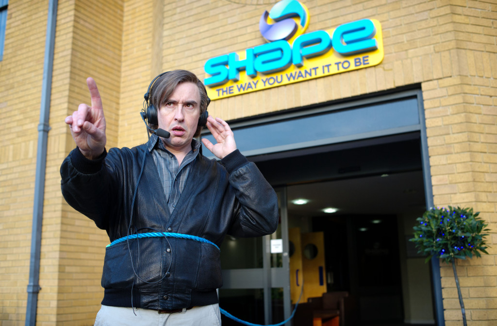Steve Coogan as the odd radio DJ, Alan Partridge