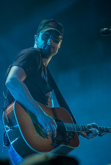 Headliner Eric Church. (Photo by Bob McClenahan)