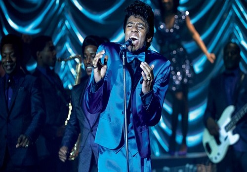 Chadwick Boseman channels James Brown in Get on Up.