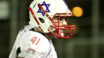 An IFL player is ready to give it his all in Touchdown Israel.