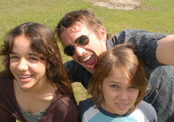 Ethan Hawke, Ellar Coltrane and Lorelei Linklater in Boyhood.