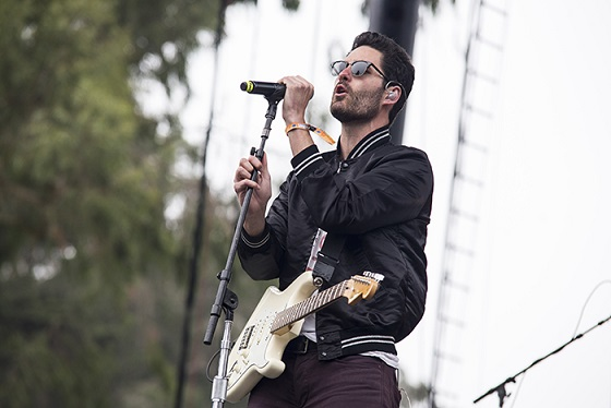 Capital Cities' Ryan Merchant.  Thanks to photog Carl Pocket for this pic!