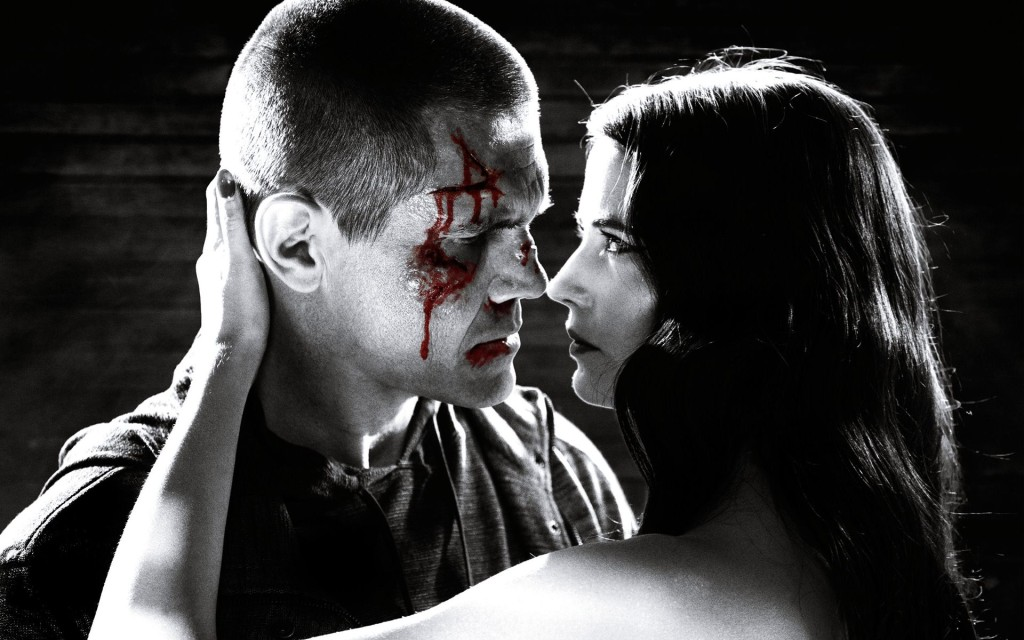 Josh Brolin and Eva Green gets black and white and red all over.