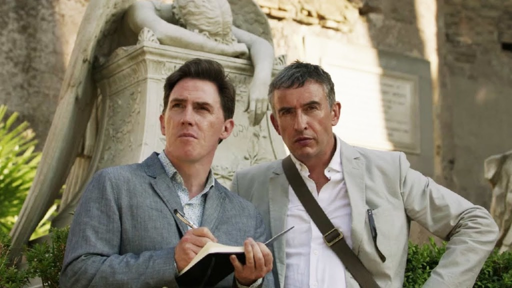 Rob Brydon and Steve Coogan strike an intellectual pose.