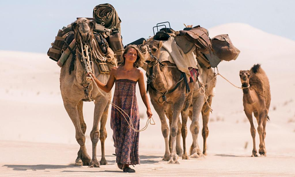Mia Wasikowska and camels in John Curran's Tracks.