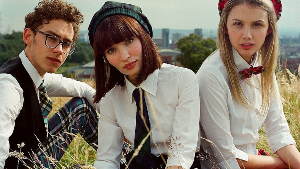 Emily Browning, Olly Alexander, and Hannah Murray.