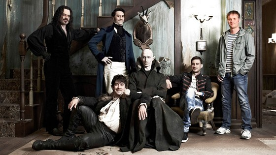 The whole crew in 'What We Do in the Shadows'