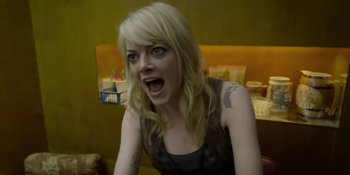 Sam (Emma Stone) is just a little bit angry at her dad.