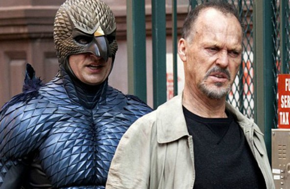 Riggan (Michael Keaton) is shadowed by his alter ego, BIRDMAN!