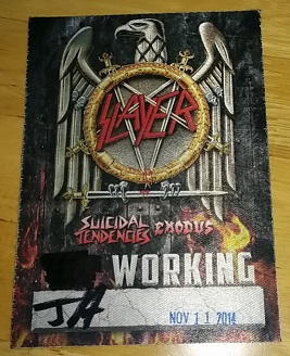Slayer 'Working' pass was basically the same as having All Access!