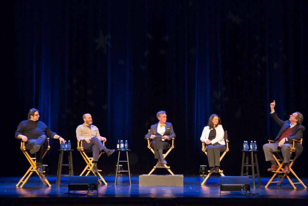 StarTalk Live: Eugene Mirman, H. Jon Benjamin, Bill Nye, Dr. Yvonne Pendleton, and Prof. Scott Hubbard (Photo by Jakub Mosur)